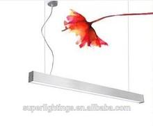 Aluminum silver office linear light 28w 35w office lighting,office hanging light