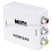 HDMI to RCA / AV Converter Mini Size HDMI to AV Conversor