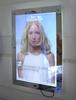 2014 Advertising LED Acrylic material Crystal Light frame Multi-graphic Ultra slim Magic Mirror light box with motion sensor