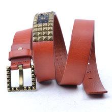 men and women with fashion design cowboy belt,brass belt buckles