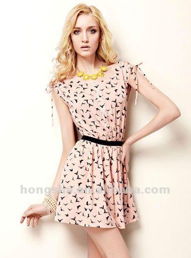El último 2013 animal print de vestidos de diseño para las mujeres hss-005