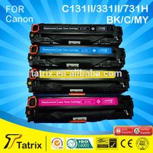 for canon compatible toner cartridge C131/331/731 TOP 3 supplier