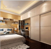 2015 modern solid wood wardrobe with sliding door Hot sale