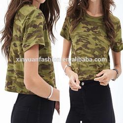 Short sleeve women apparel Wholesale Camo women apparel, women apparel, garment factory