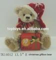 Natal urso de pelúcia com caixa de presente, natal urso de peluche