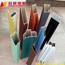 Customized aluminum profile in colorful powder coating and anodizing finish