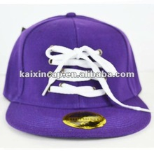 Laces Baseball Cap Flat Bill Hat Fitted