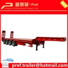 best selling 80 tons low loader trailer for delivery excavator/equipment transport trailers/4 axles lowboy trailer for sale
