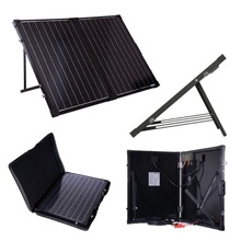 Foldable Solar camping kit, Solar Battery Charger 100W
