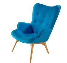 Vogue & Modern Design -- Ash Wood Contour Chaise Lounge Chair