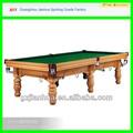 100% madeira maciça mesa de snooker oval de madeira maciça mesa de jantar