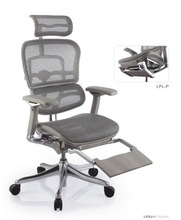 Ergohuman V2 modern color mesh aluminium alloy frame ergonomic office chair executive lift comfort seat and folding leg rest