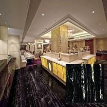 Chinese price wholesale polished glazed glossy marble black tiles