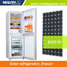 home appliance solar power refrigerator DC12v24v AC110V-240V solar refrigerator compressor refrigerator
