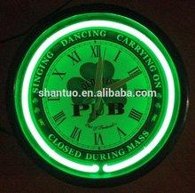 15 inch chromed shell led wall clock/light clock wall