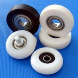 Plastic pulley wheels with bearings as per your drawing