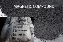 flexible rubber magnetic powder/magnet powder ferrite powder 25kgs/bag/plastic magnetic compound