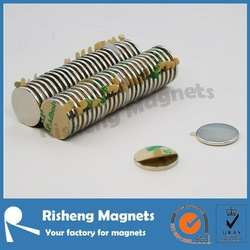 Neodymium disc magnet with adhesive 3m adhesive magnet double sided