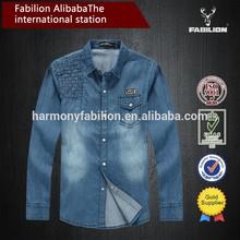 Wholesale china 100% cotton stone washed shirt,custon mens apparel
