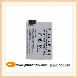 Promotional price rechargeable camera battery for canon LP-E8 camera battery 1500mAh for Canon 550D 600D 650D