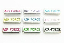 2015 Hot selling floating locket charms with AIR FORCEY word,bulk charms wholesale
