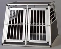 Big Aluminum pet cage dog transport kennels dog crate