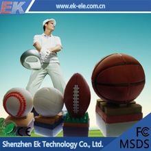 Hot sale promotional basketball or soccer or rugby usb flash drive 2.0 8GB made in China