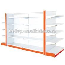 best selling Supermarket plain double side shelving /shopping equipment