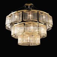 Modern Hotel Lobby Delicate LED Crystal Chandelier Gold Chrome Eye Shape Oval Shape Frame Pendant Lighting