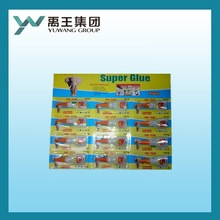 fast super glue in plastic bottle in blister card ethyl-2 cyanoacrylate
