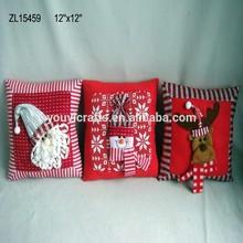 buy direct from china factory 12''*12'' Handmade Christmas Cushion