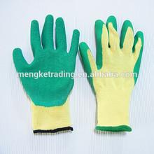 latex rubber palm coated safety work glove, garden glove