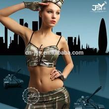 Top design sexy women military camouflage uniform
