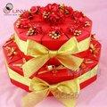 красный свадьба пользу коробки торта украшения клубники торт украшения