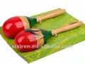 Los niños 2012 juguete educativo/instrumentos musicales de juguete/maraca de coco