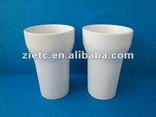 wholesale 12oz white porcelain mug no handle for promotion