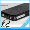 Black Crocodile flip real leather case For iPhone 4 4S,4G298