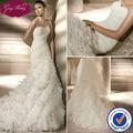 goingweddingオーガンザストラップレスの恋人人魚フリル付きのスカートsp046最新の花嫁のウェディングドレス写真