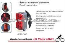 4 high light LED and 2 red laser beam for bike laser light