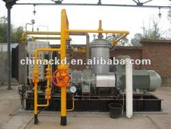 Low pressure gas production packaged equipment