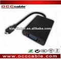mini usb para cabo adaptador vga com áudio e usb de carregamento