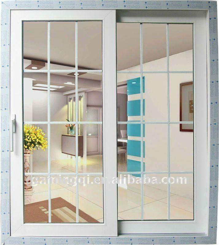 Pvc sliding windows grill designs for windows view grill for Sliding window design for home