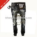 ( # Tg371m ) 2012 de moda arrancó las bragas de la capa de carbono negro turco vaqueros