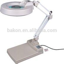 abrazadera de escritorio electrónico de laboratorio de la lámpara lupa bk500b