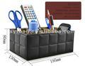 Façonnez les boîtes de stockage en cuir de bureau pour articles divers de hourse et de bureau