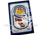 food packaging plastic bag/three side sealed packaging bag