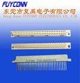 filas 2 tipo b eurocard din 41612 64 pin receptáculo conector vertical