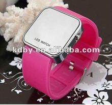 koda Luxury Mirror LED Digital Date Jelly Silicon Unisex Sport LED Watch