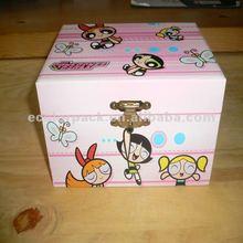 Lovely cartoon children plastic shorage box with lock