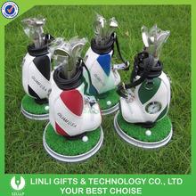 Mini golf pen holder office golf set